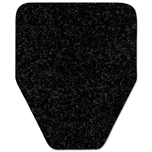 Antimicrobial Floor Mat, Urinal, 17 x 20 1/2, Black, 48/Carton, Sold as 1 Carton, 48 Each per Carton by WizKid