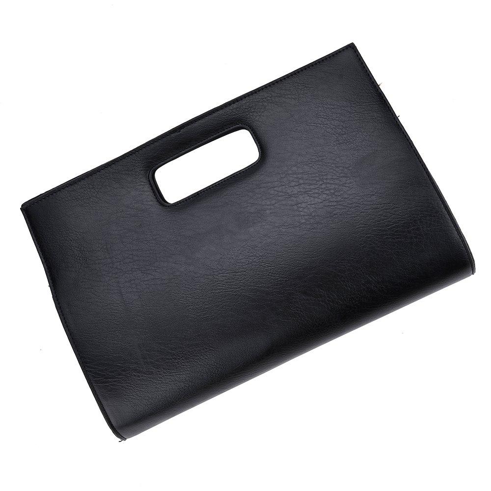 VRLEGEND Leather Top Handle Handbags Crossbody Shoulder Bag Tote Wallet Purse Evening Clutch Bag for Women (Black) by VRLEGEND (Image #2)