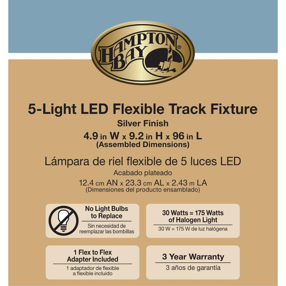 Silver 5-Light Integrated LED Flex Track Lighting Kit - - Amazon.com