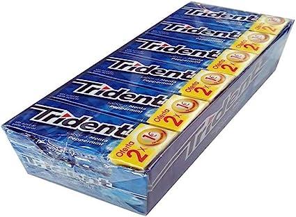 TRIDENT Chicle Menta 24 paquetes Gragea: Amazon.es: Belleza