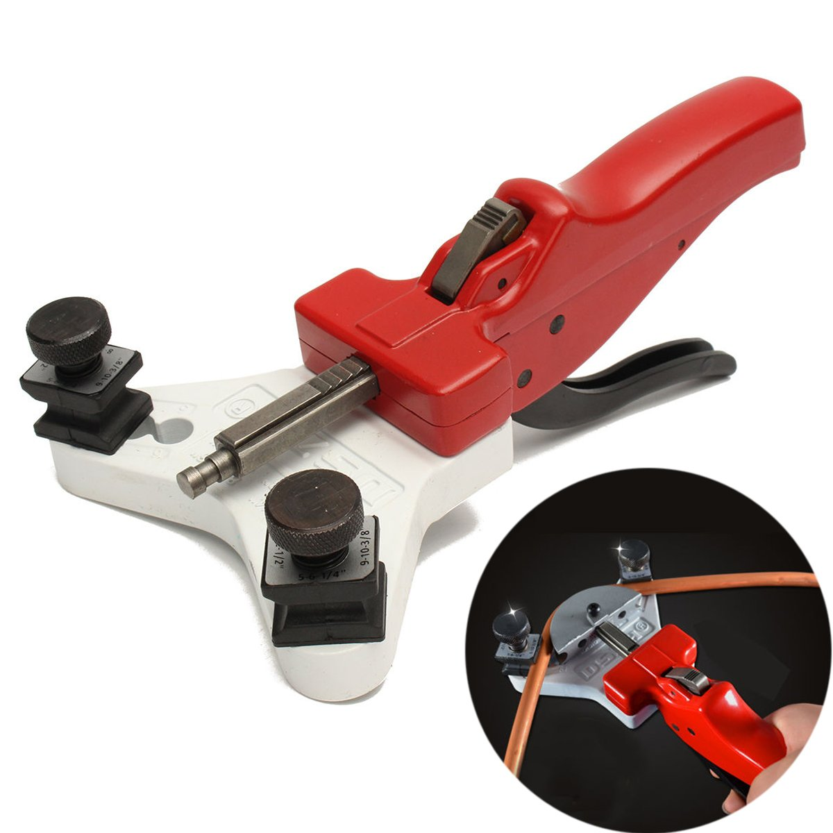Huanyu Heavy Duty Tube Bender Manual Steel Pipe Copper Cutter Tool For 5/6/8/10/12mm