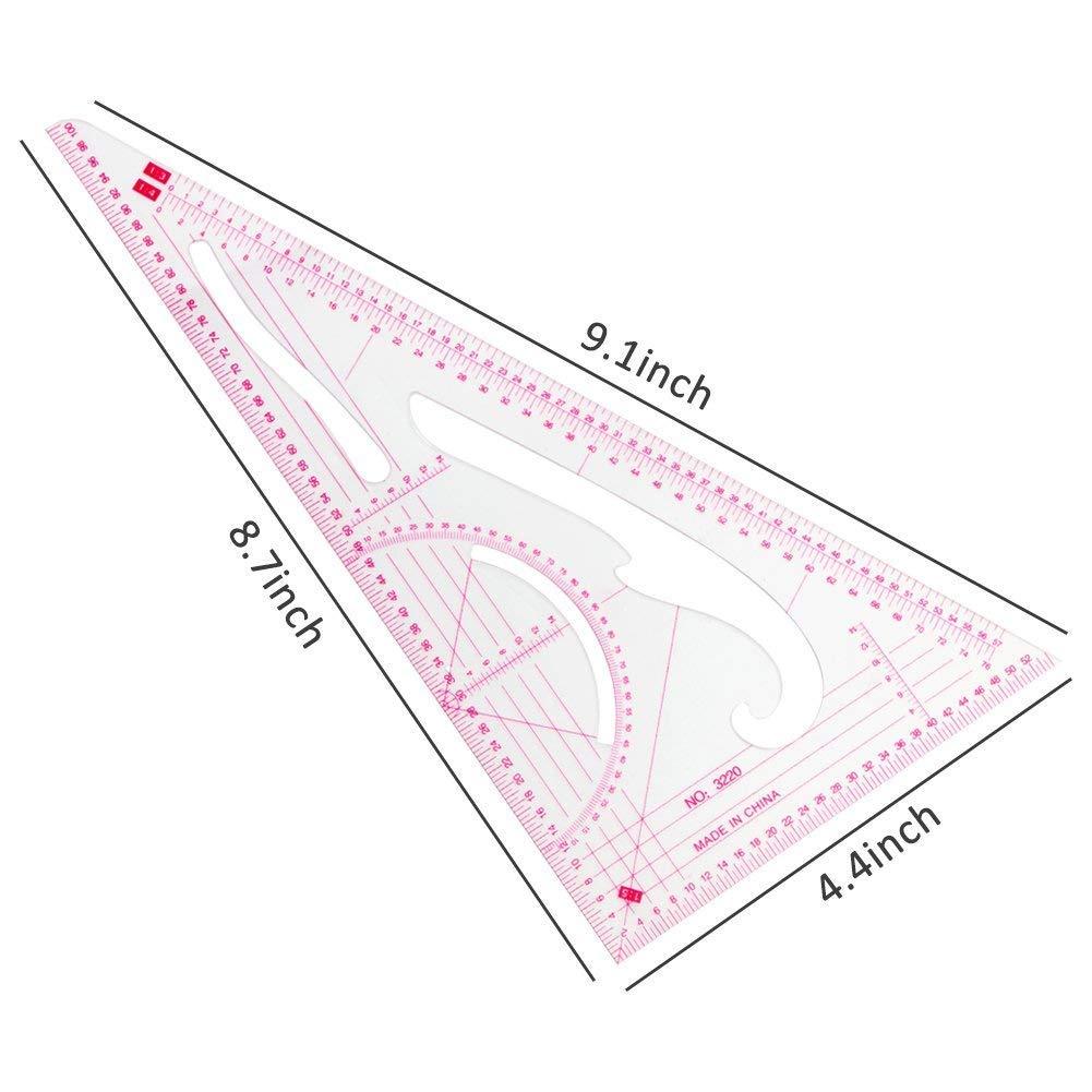 TOOGOO N?hlineal Set 4 St/ück Metrisches Lineal Set Franz?sisches Kurven Muster Grading Lineal Schneiderei Zeichnen Zeichnen Ma?vorlage Werkzeuge 4 Stil F/ür Designer