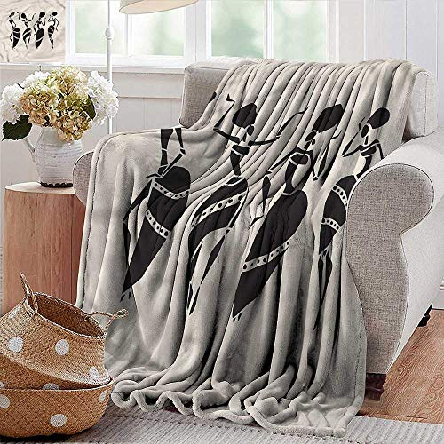 Xaviera Doherty Lightweight Blanket Tribal,Woman Figure African Costume Microfiber All Season Blanket for Bed or Couch 50