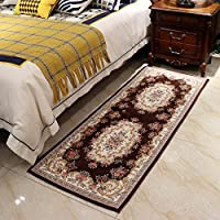 Hihome Bedside Area Rugs for Bedroom, Laundry,Bedroom runner rugs non slip 28x71 (Brown)