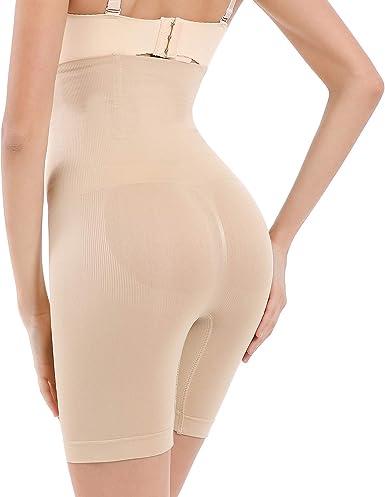fannay Women Body Shaper Panty Slimming Waist Seamless High Waist Shapewear Pants Thigh Slimmers