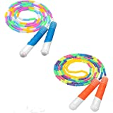 Jeteven Soft Beaded Jump Rope Fitness Skipping Rope for Kids Men and Women with Shatterproof Beads and Durable Plastic…