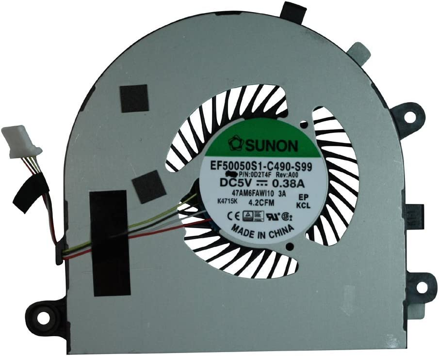 New CPU Cooling Fan For Dell Inspiron 15-7547 15-7548 D2T4F, 0D2T4F