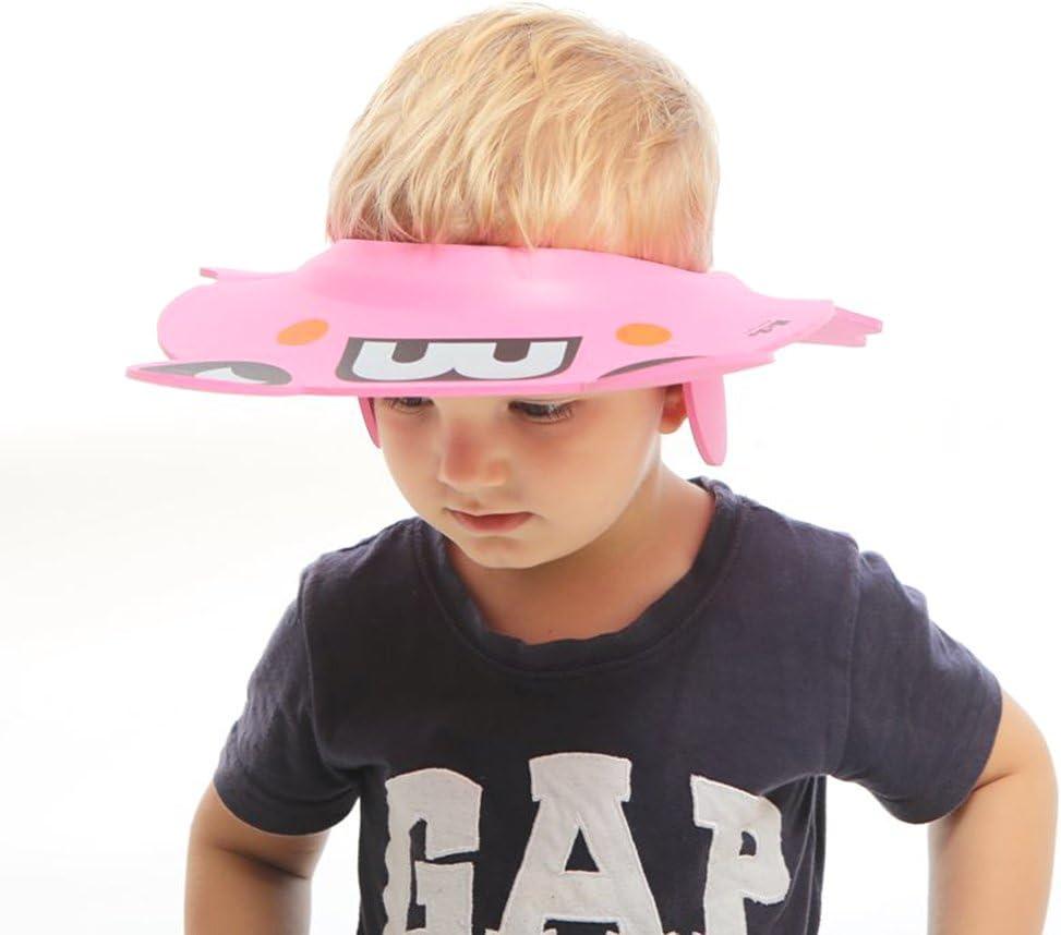 Rose 6 Ans Zerodis Visiere de Bain B/éb/é Douche Casquette Anti Shampoing Ultra L/éger d/'EVA Doux Enfant Bonnet Protection Yeux Oreille Bonnet de Bain Taille R/églable pour Enfant 3 Mois