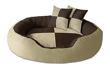 BedDog PRINS Marron/Beige XL Aprox. 95x80cm colchón para Perro, 12 Colores,