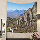Evelyn C. Connor Custom?tapestry holy monastery of varlaam in meteora mountains thessaly greece unesco world heritage list