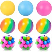 Orchid M Rainbow Stress Ball, Mini Glitter Stress Balls for Adults and Kids - Sensory Stress and Anxiety Relief Squeeze…