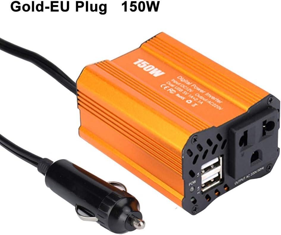 UTUT Car Power Inverter 150W Dual USB DC 12V to AC 110V//220V Modified Sine Wave Car Inverter Converter RedUS Plug