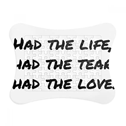 Amazon.com: Famous Poetry Quote Life Tear Love Paper Card Puzzle ...