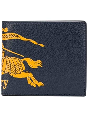 dfcfcb9b22e83 BURBERRY Herren 8005981 Blau Leder Brieftaschen  Amazon.de  Bekleidung