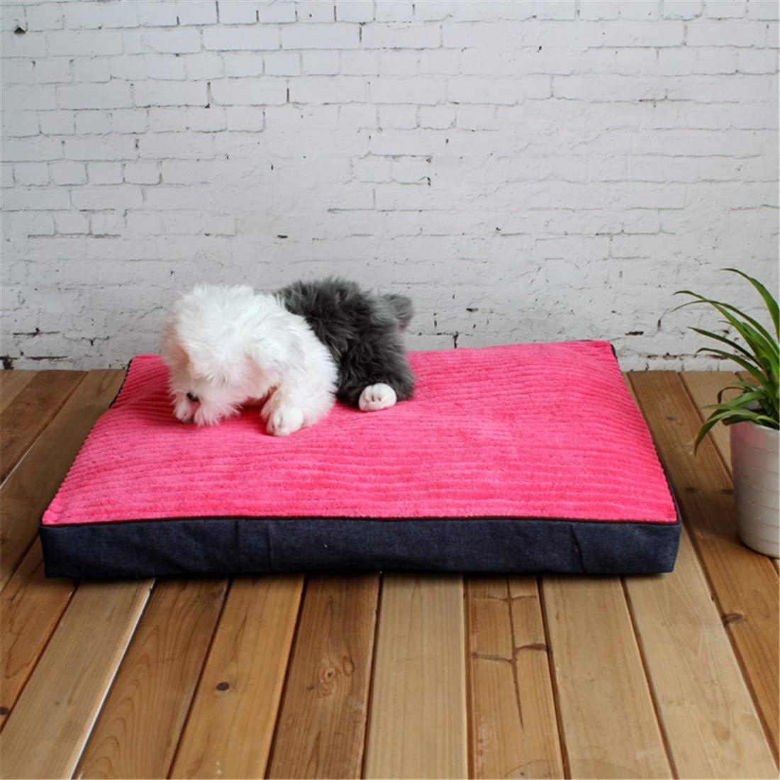 M 80X60X8cm WUTOLUO Dog pad pet nest kennel cat litter mat pet supplies (color   M 80X60X8cm)
