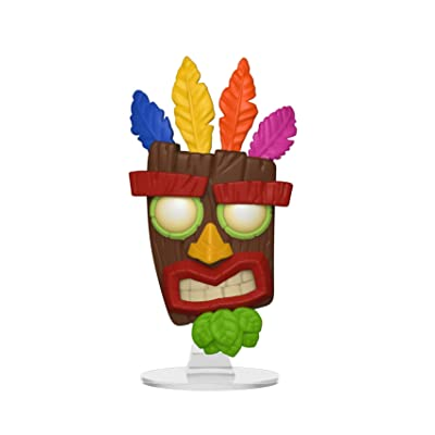 Games: Crash Bandicoot - Aku Aku Collectible Figure, Multicolor: Toys & Games