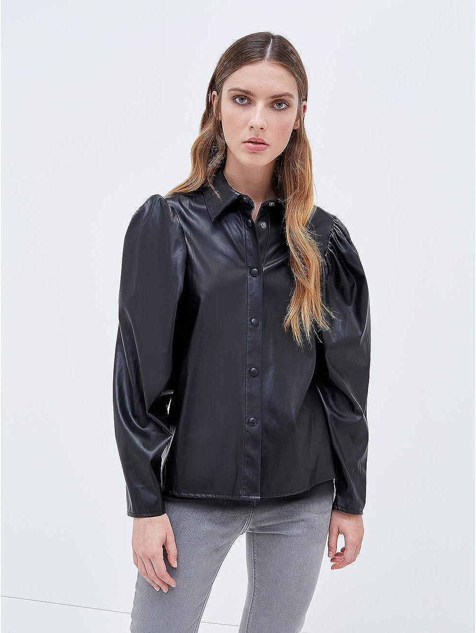 Motivi : Camisa Boxy Efecto Piel Mujer