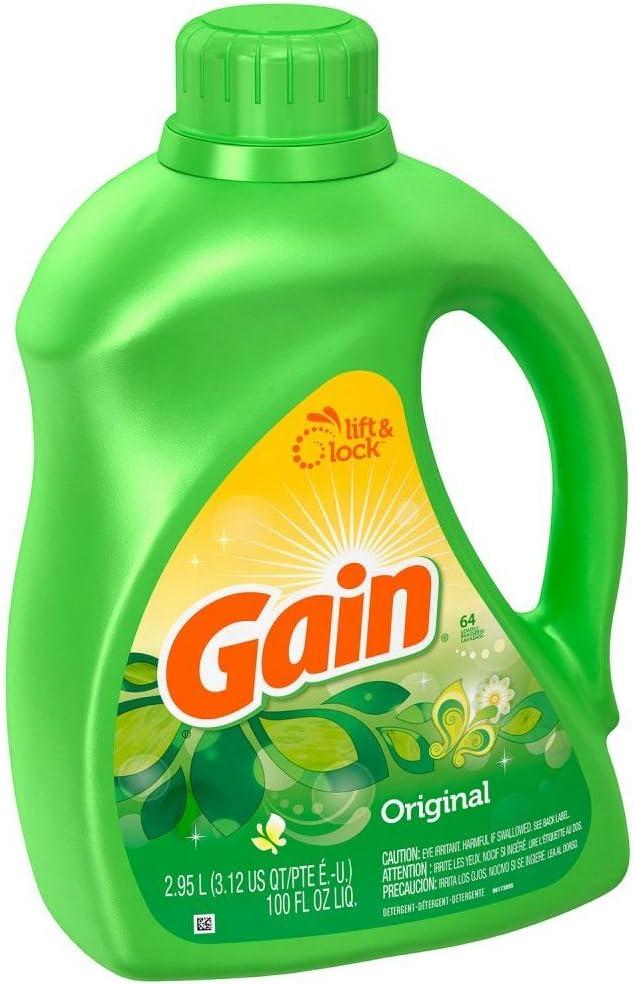 Gain Original Scent High Efficiency Liquid Laundry Detergent, 100 Ounce