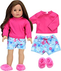 3e36b79fee Sophia s Doll Clothes 18 Inch Doll 3 Piece Doll Pajama Set Pink and Blue