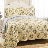 yellow bedding full - Laura Ashley Linley Quilt Set, Full/Queen