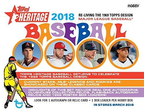 2018 Topps Heritage Baseball Cards - Complete 400 Card Set