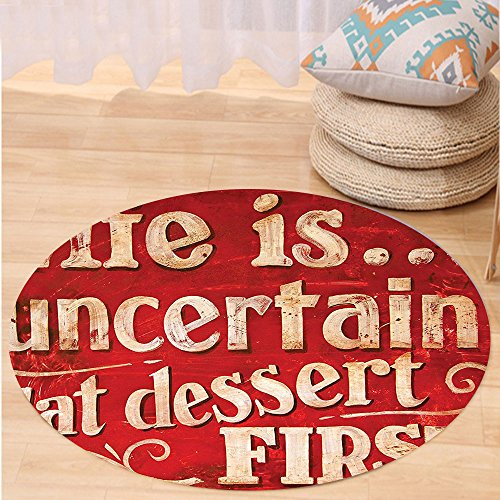 Kisscase Custom carpetVintage Decor Collection Retro Classic Decorative Design for Restaurant and Food Symbols Signs Funny Diner Supper Bedroom Living Room Dorm Red Creme