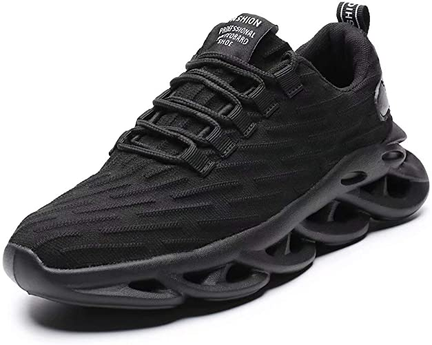 NEW Mens Tennis Shoes Size 12 Black Athletic Memory Foam Lightweight Running