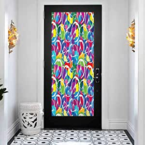 3D Door Mural Decals Wall Murals Wallpaper, Retro ...