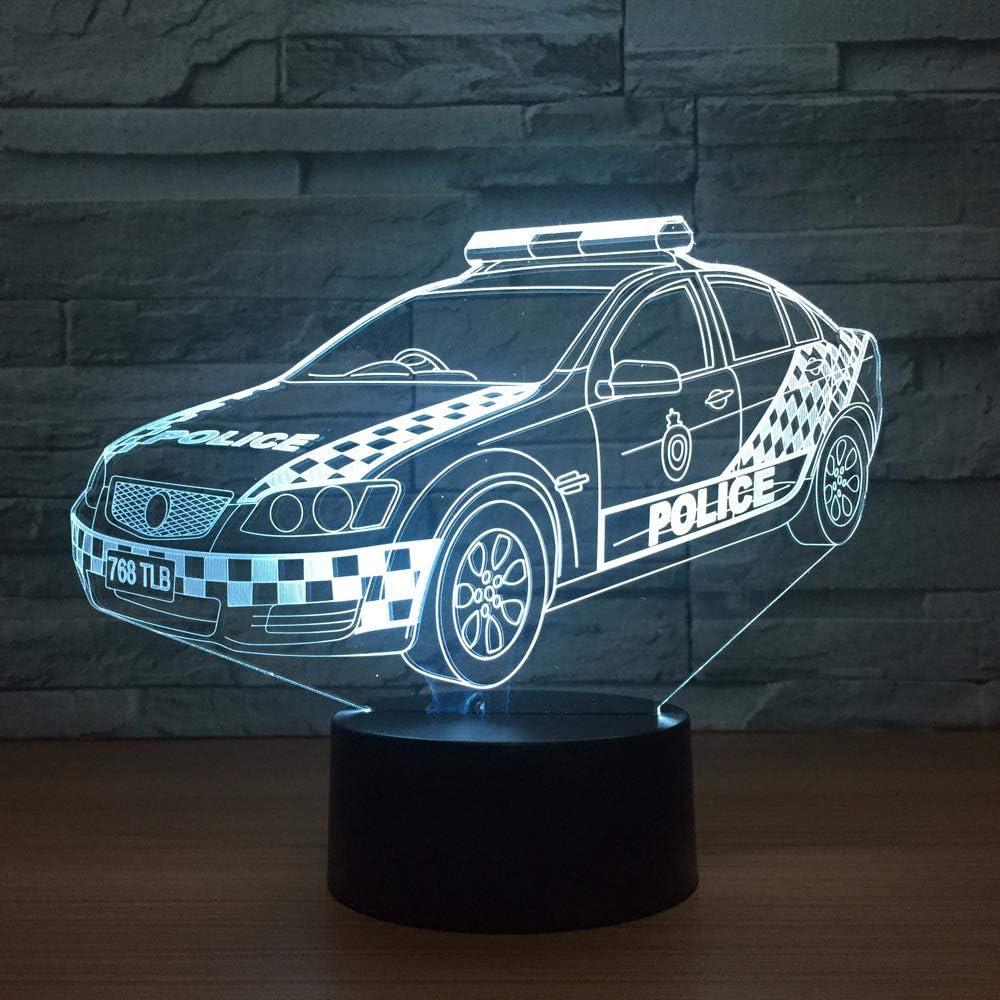 Lámparas de ilusión 3D LED Taxi Night Lights USB 7 colores Sensor Lámpara de escritorio para niños Navidad Regalos de cumpleaños Decoración del hogar