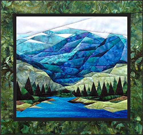 (Smokey Mountains - NEW Form of Foundation Paper Piecing (Picture Piecing) Pattern - 17 1/4