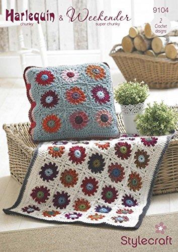 Stylecraft Home manta, alfombra & patrón de crochet de cojín ...