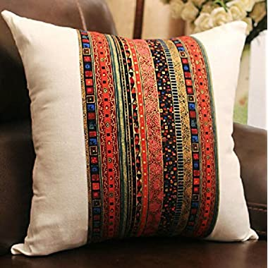 Ning store Throw Pillow Cover Decorative Pillow Foam Pillow Bed Pillow Body Pillow for Sofa Chair Tatami Bed Car Livingroom Bedroom Bar Patio,18 inches (Bohemian)