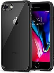 【Spigen】 スマホケース iPhone8 ケース / iPhone7 ケース 対応 背面クリア 米軍MIL規格取得 耐衝撃 ウルトラ・ハイブリッド 2 042CS20926 (ブラック)