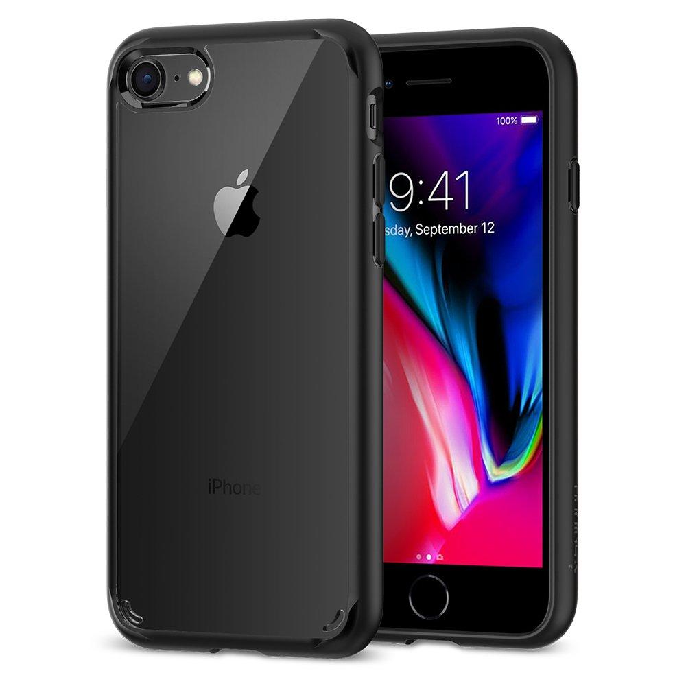 Spigen Ultra Hybrid [2nd Generation] Designed for Apple iPhone 7 Case (2016) / Designed for iPhone 8 Case (2017) - Black by Spigen