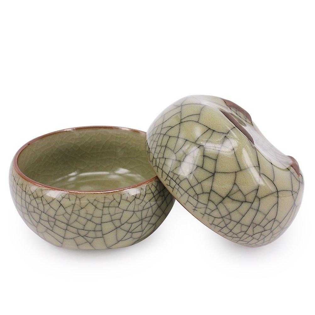 ZHAMS Kungfu Teacup,Chinese Long-quan Celadon Teacup,Tea Set, Different Colors, Set of 4 by ZHAMS (Image #6)