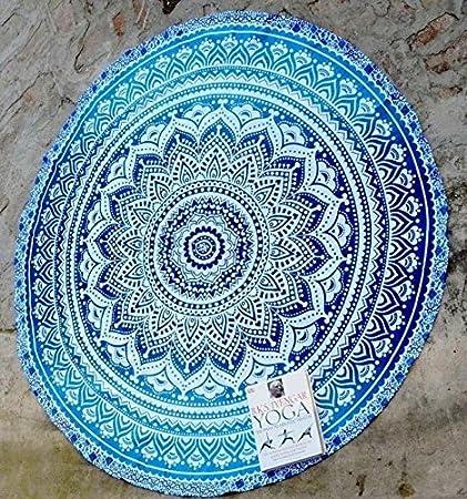 Indian Mandala Beach Throw Towel Round Tapestry Wall Hanging Decor Yoga Boho Mat