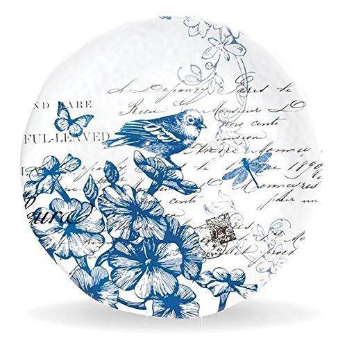 (Michel Design Works Melamine Round Serving Platter, Indigo Cotton,)
