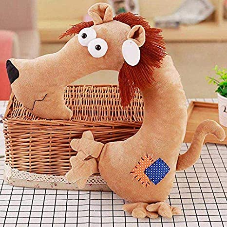 Travel Pillow Neck Support Head Rest Airplane Car Cushion Lovely Animal U Shaped Lion