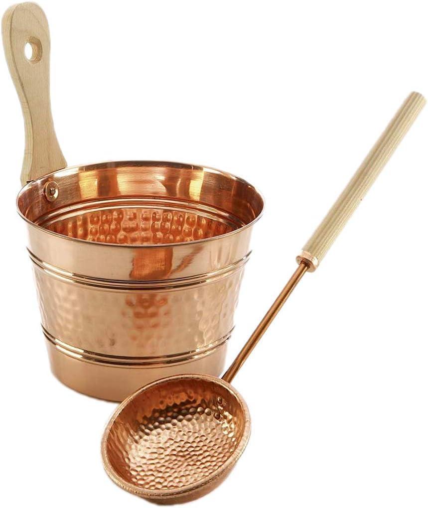SudoreWell/® Sauna Louche//louche en cuivre avec manche en bois