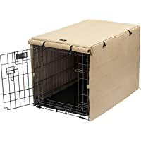 X-ZONE PET Double Door Dog Crate Cover - Polyester Pet Kennel Cover (Fits 24 30 36 42 48 inches Wire Crate) (24 Inch…