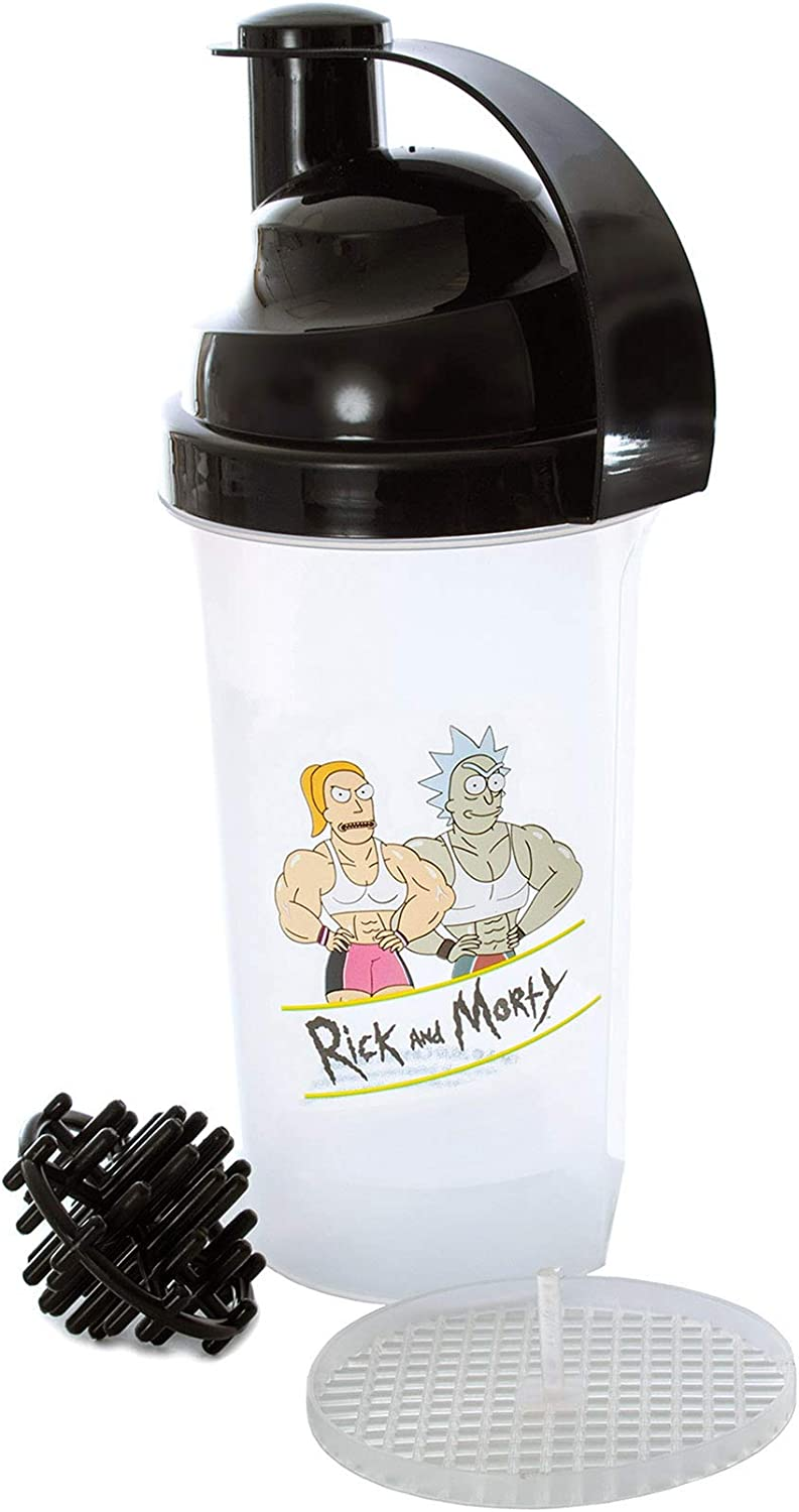 Surreal Rick and Morty Ripped Blender Bottle