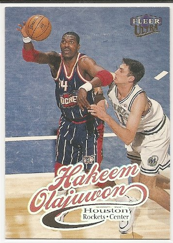 Rockets Card Olajuwon Hakeem - Hakeem Olajuwon 1998-99 Ultra Houston Rockets Card #68