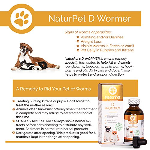 Naturpet-D-Wormer-100-Natural-Safe-Effective-Dewormer-for-Dogs-and-Cats-33-oz-Liquid-Herbal-Dewormer-The-Only-Natural-Pet-Deworming-medicine-that-soothes-heals-the-digestive-tract