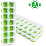 Adoric Ice Cube Trays 3 Pack, Easy-Release Silicone and Flexible 14-Ice Trays with Removable Lid, LFGB Certified and BPA…
