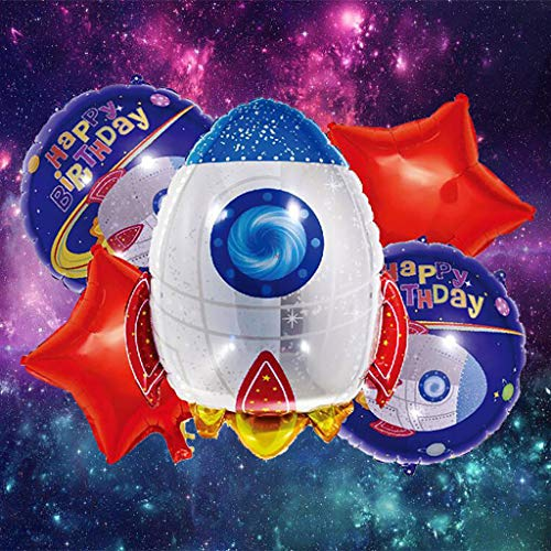 Gotian A Set Astronaut Shaped Balloon Space Theme Balloon Space Party Balloon Ideal Decoration for Children's Party Room Birthday Parties Promotions