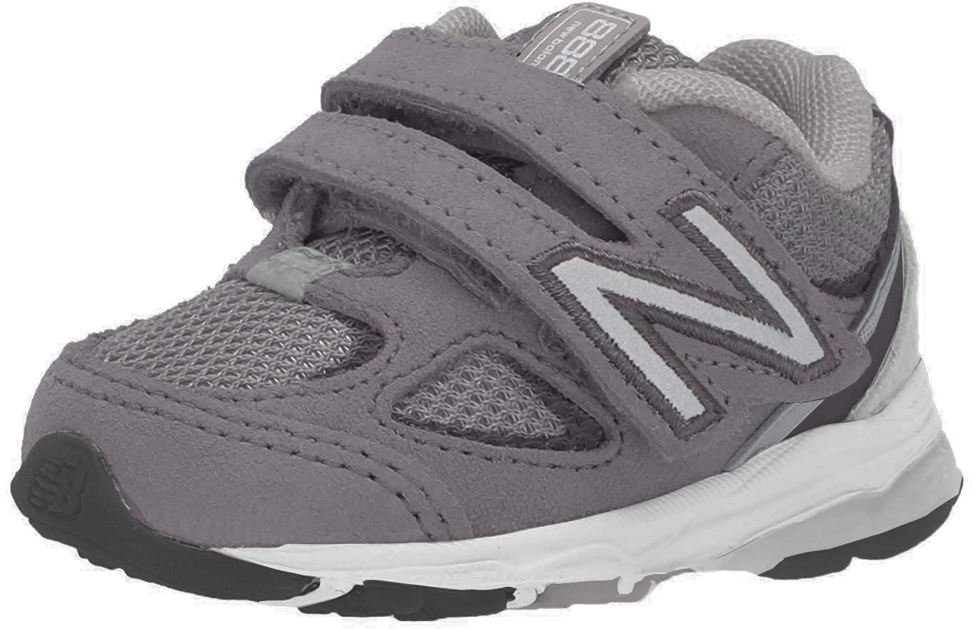 New Balance Boys' 888v2 Hook and Loop Running Shoe, Dark Grey/Grey, 12.5 XW US Little Kid by New Balance