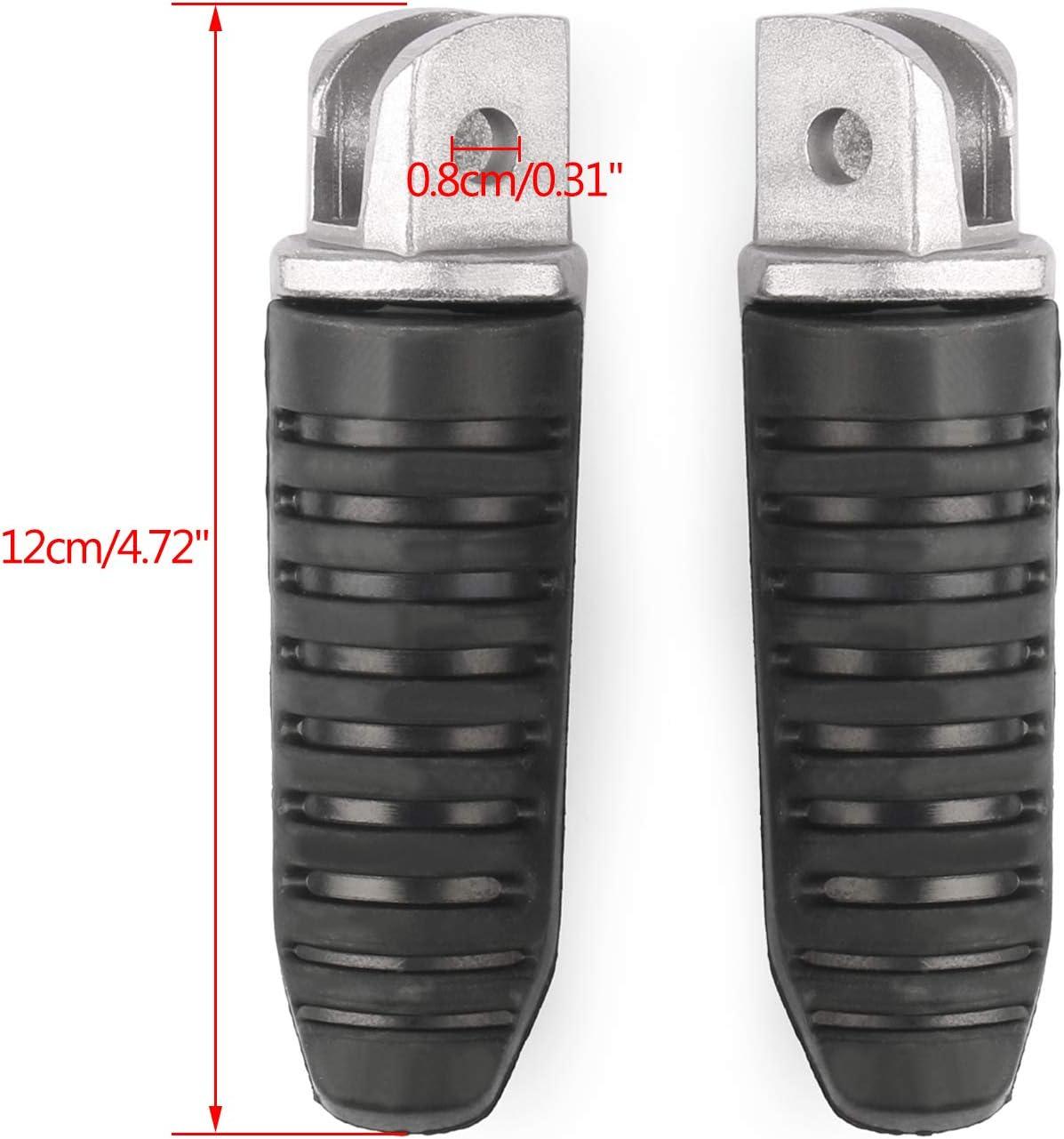 Avant P/édale Moto Repose Pied Footrest Footpeg pour S-U-Z-U-K-I V-Strom DL 650 GSX 1250 1300 GSR 600 Artudatech Repose-pieds
