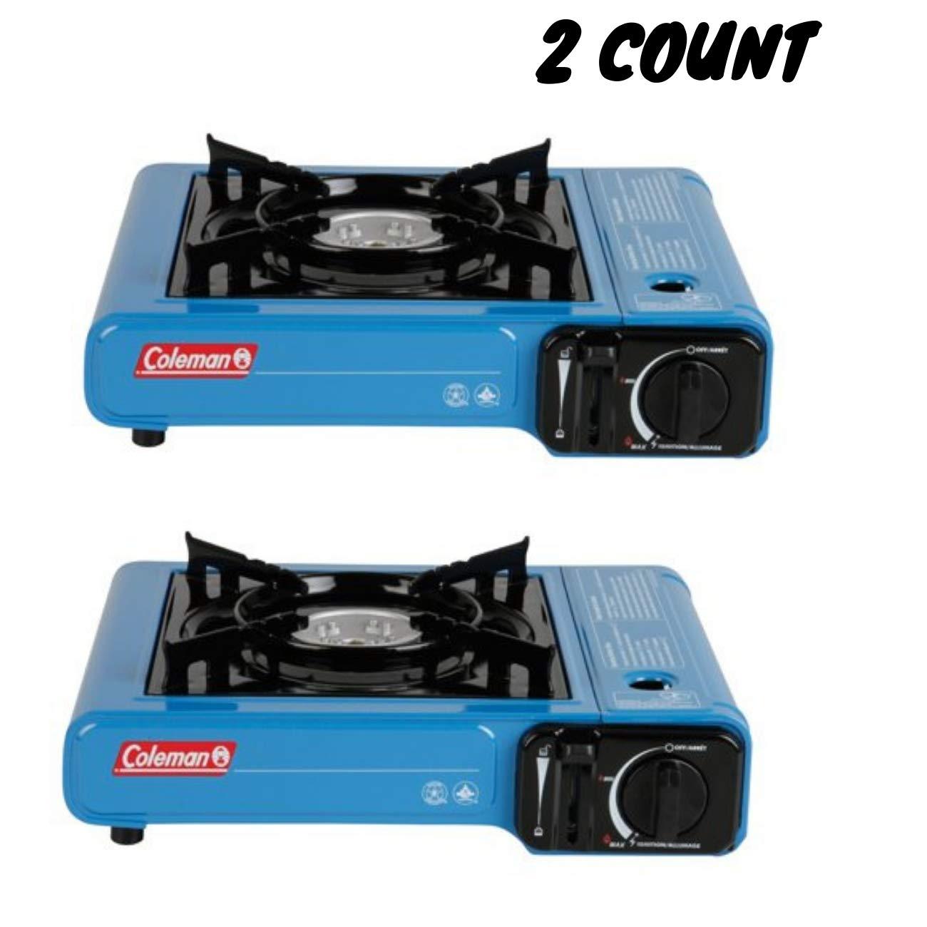 Amazon.com: Coleman 1-Burner Tabletop Butane Camp Stove / 2- Pack: Home Improvement