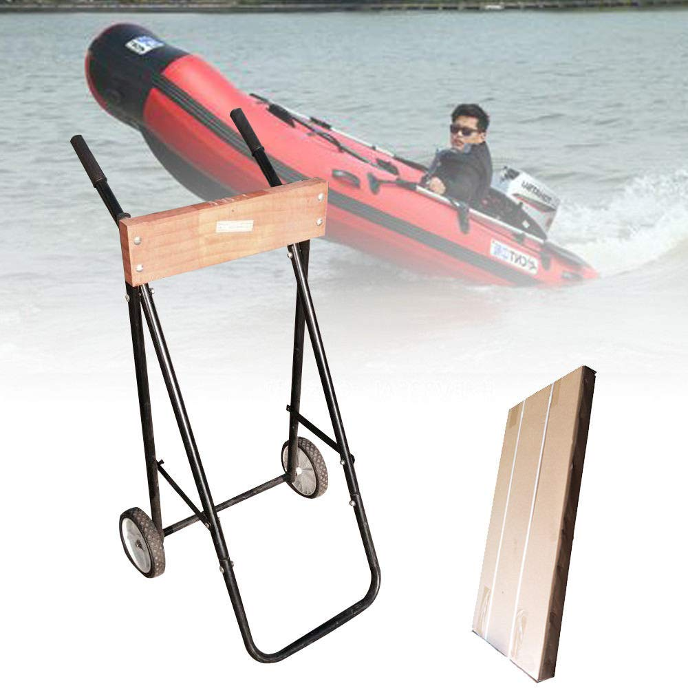 Motorboat Cart 100KG Outboard Motor Engine Trolley Stand Boat Carrier Transport Wheel SHIOUCY