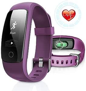 DBFIT Pulsera de Actividad Inteligente Reloj Deportivo IP67 Fitness Tracker Podómetro Monitor de Sueño Contador de Calorías Pasos Rastreador de ...